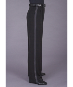 4005 Two small pleated trouser with satin stripe & belt loops