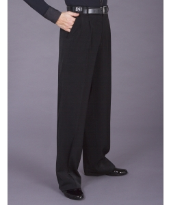 4006 Two small pleated trouser with pockets & belt loops