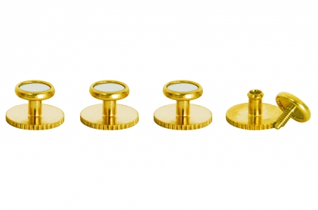 4510 Dress studs with gold trim