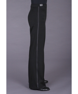 4004 Plain fronted trouser with satin stripe