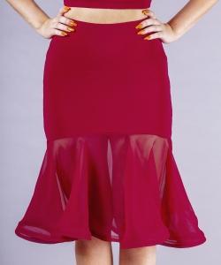 3262 Aria crepe skirt