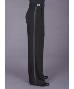 4002 Box pleat trouser with wide satin stripe